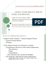How to Measure Your Impact H-Index Clinic