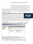 How to Install and Configure Windows Server 2008 DHCP Server