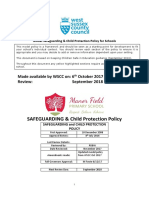 Child Protection Policy Oct 2017