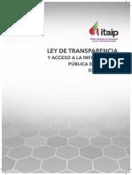 Ley de Transparencia y Acceso a La Información Pública Del Estado de Tabasco, Vigente Desde 16 de Diciembre de 2015