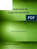 Intro Cryptoeconomics