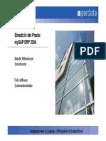 SAP 240505 Wittenbecher MySAP ERP 2004