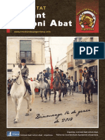 Sant Antoni Abat, Revista 2018.