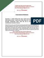 SAMPLE - International Relations 2