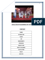 Project Report - Hardness of Water r2 Final
