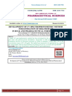 DEVELOPMENT OF UV SPECTROPHOTOMETRIC METHOD FOR ESTIMATION OF SERATRODAST IN BULK AND PHARMACEUTICAL FORMULATIONS