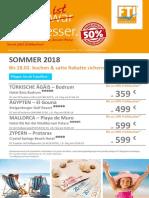 Fruehbucher Kampagne Sommer18 Abflug Frankfurt