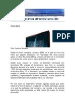 Cómo elegir su televisión 3D