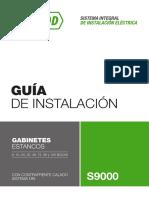 Guía de instalación de gabinetes estancos IP55 S9000 de la marca Gen Rod.