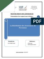 Distribution Des Assurances de Personnes