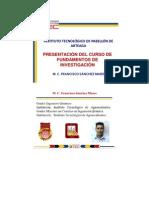 PRESENTACIÓN DEL CURSO DE FUNDAMENTOS DE INVESTIGACIÓN
