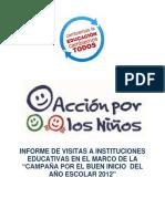 Accion Por Los Niños Informe 2012