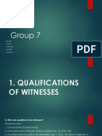 Qualifications and disqualification of witnesses ppt.