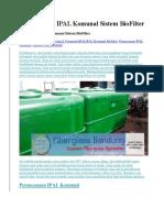 Perencanaan IPAL Komunal Sistem BioFilter