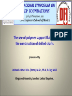 DFI 2011 - The Use of Polymer as Drilling Fluid and Its Impact on Pile Shaft Friction Characteristics