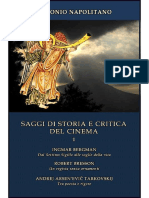 Antonio Napolitano - Saggi Di Storia e Critica Del Cinema - Vol.1