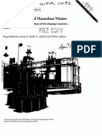 Safe Disposal of Hazardous Wastes Vol I