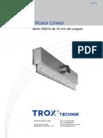Difusor Linear - Serie Vsd15