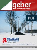 Ratgeber aus Ihrer Malteser-Apotheke – Januar 2018
