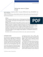 Lived Experience of Indonesian Nurses in Japan a Phenomenological Study
