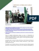 Hamas Estaría Dispuesto a Entregar Sus Armas