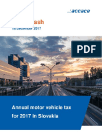 Annual motor vehicle tax for 2017 in Slovakia