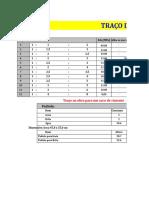 Tabela para facilitar Traços de concreto.
