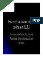 Exames laboratoriais de rotina em UTI.pdf