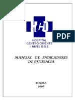 Manual de Indicadores de Un Hospital