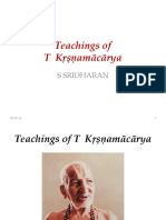 T Krishnamacharya Life and Teachings