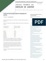 Tarife Minime Propuse Pentru Dirigenţie de Şantier - Colegiul Tehnic Al Diriginţilor de Şantier