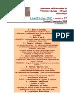 LAMPEA-Doc 2010 – numéro 27 / Vendredi 3 septembre 2010