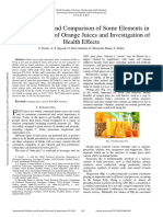 Determination and Comparison of Some Elements in Different Types of Orange Juices and Investigation of Health Effects