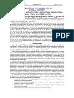 Reglas Fomento Agricultura 2018 SAGARPA