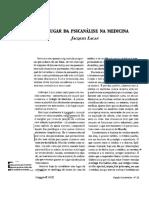 LACAN, J. (2001). O Lugar Da Psicanálise Na Medicina