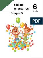 6to Grado - Bloque 3 - Ejercicios Complementarios