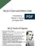 MLQ s Civics and Ethics Code