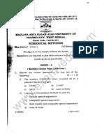 Numerical Methods Paper - 2016