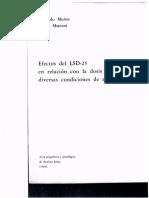 Muñoz & Marconi_1966_Efectos Del LSD-25