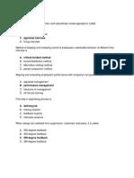 Performance Management Quiz & Answers
