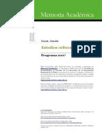 Estudios Culturales - Claudia Kozak