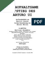 Arturo Ui. Bertold Brecht - Alemao