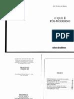 1o Que e Pos Moderno p 3 a 85