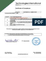 Certificado de Calidad Anodos-electrodos Ref-coque