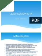 clasificacin iota