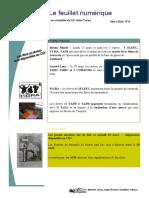 Feuillet numérique mars 2014-2