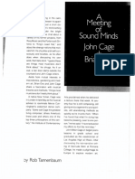 A Meeting of Sound Minds (Interview With Cage, Eno)