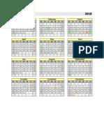 Calendario Permanente 2018
