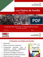 1° Reunión con padres de familia