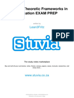 Stuvia 355912 Edc1015 Theoretic Frameworks in Education Exam Prep